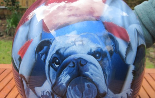 Bulldog Airbrushed Motorcycle Helmet