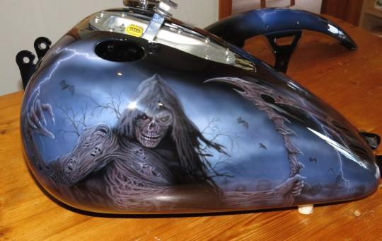 Grim Reaper Airbrush Art