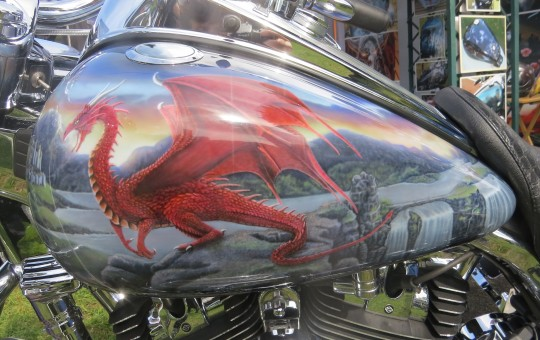Merlin Theme on a Harley-Davidson Roadking