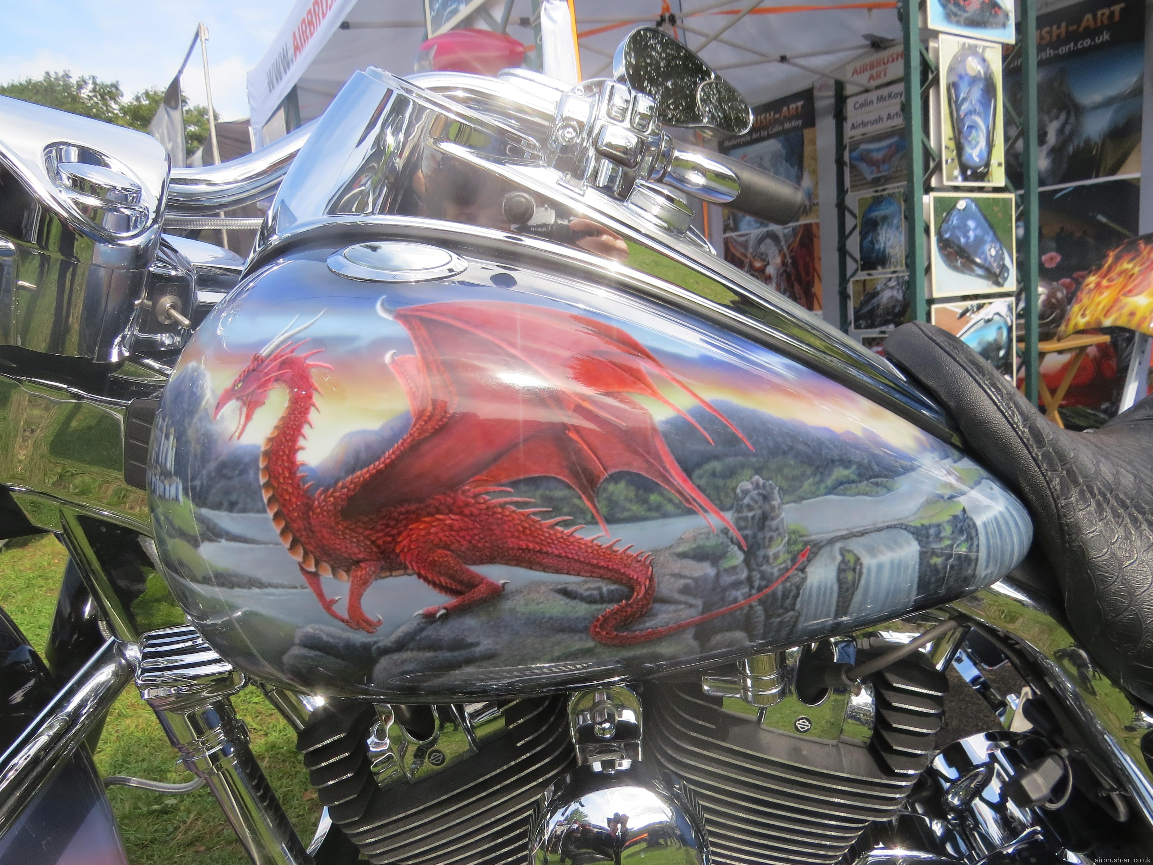 Merlin Theme On A Harley Davidson Roadking Airbrush Art