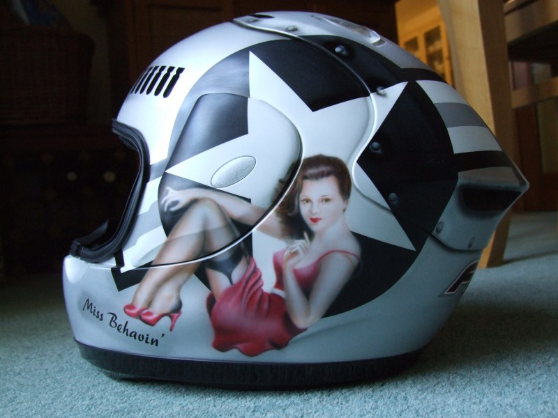Miss Behavin' helmet.