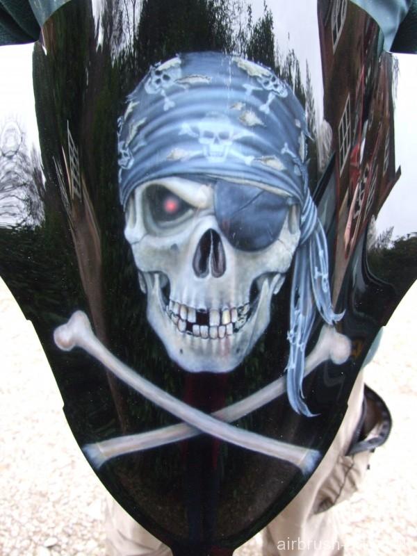 Custom Paint Pirate Theme On Hayabusa Airbrush Art
