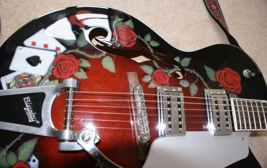 Airbrush Art on Gretsch Guitar