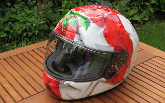 England's Rubgy Rose Arai Helmet