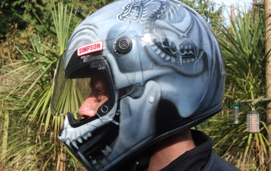 Airbrushed Simpson Helmet
