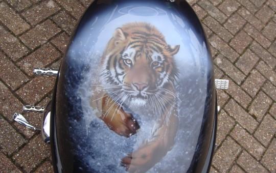 Tiger V Rod Harley Tank