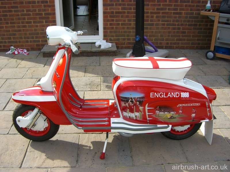 England 1966 World Cup theme on Lambretta.