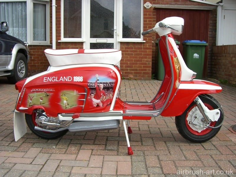 1966 World Cup Lambretta custom paint.